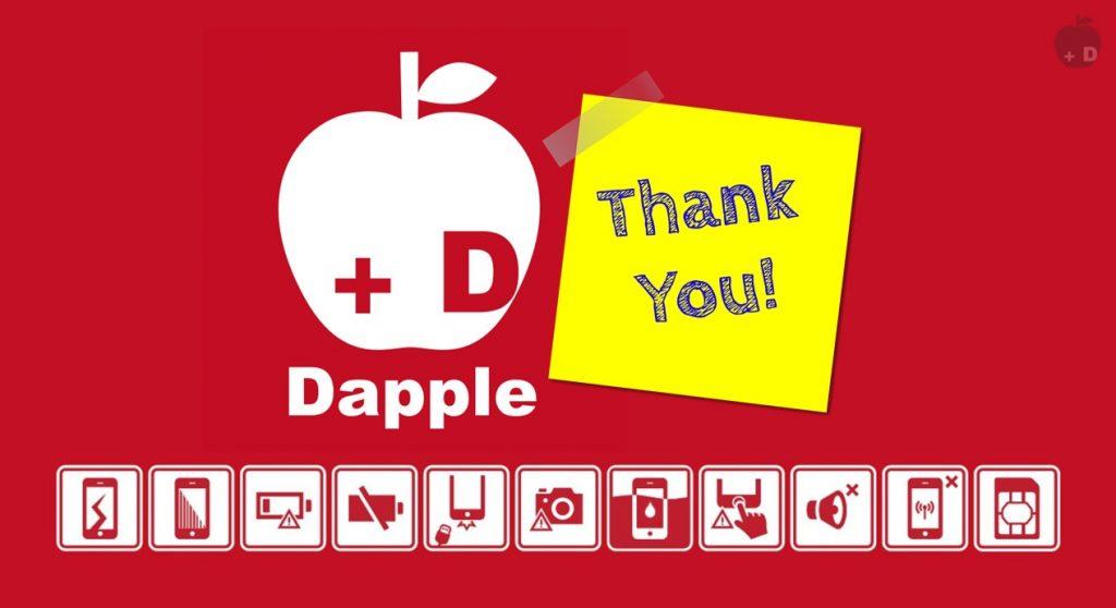 愛知県豊田市美里にあるiPhone修理・買取・格安SIMのDapple豊田店をご利用いただきありがとうございました。